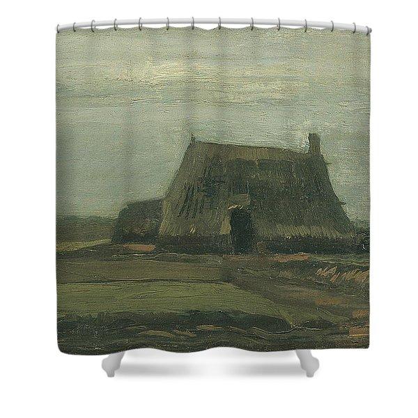 Farm With Stacks Of Peat November 1883 - 1883 Shower Curtain
