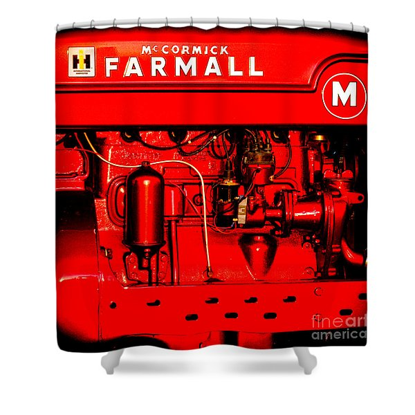 Farmall Engine Detail Shower Curtain
