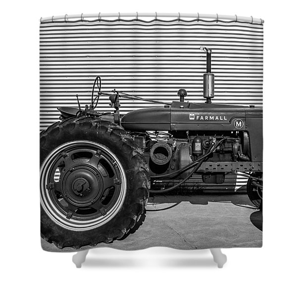 Farmall M And Steel Shower Curtain