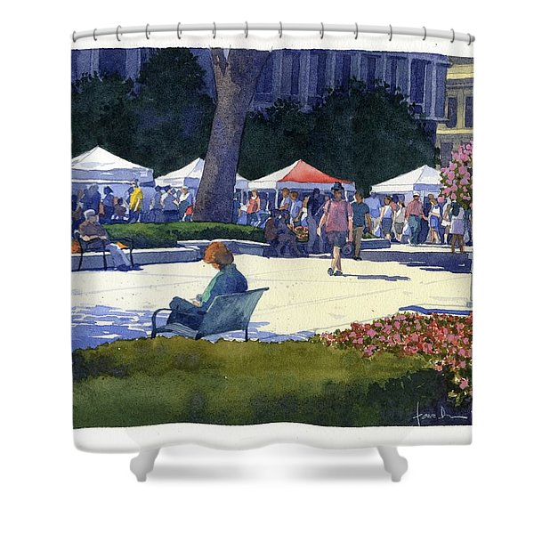 Farmers Market, Madison Shower Curtain