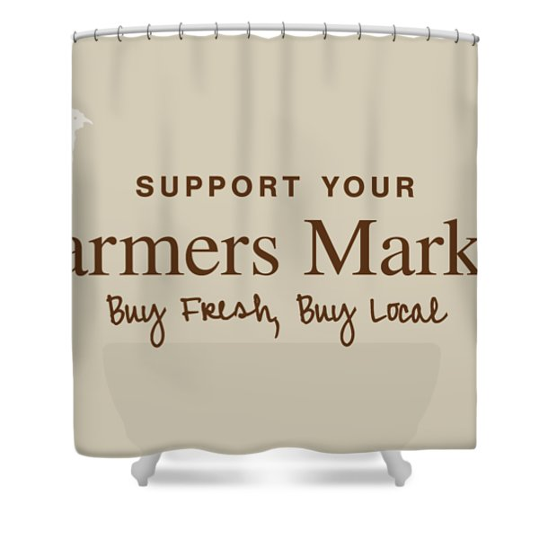 Farmers Market Shower Curtain