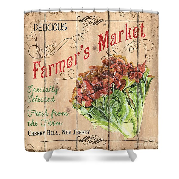 Farmer's Market Sign Shower Curtain