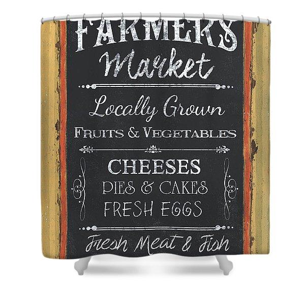 Farmer's Market Signs Shower Curtain