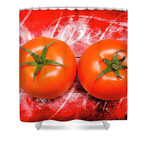 Farmers Market Tomatoes Shower Curtain
