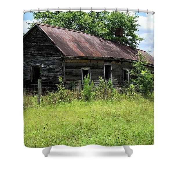 Farmhouse Abandoned Shower Curtain