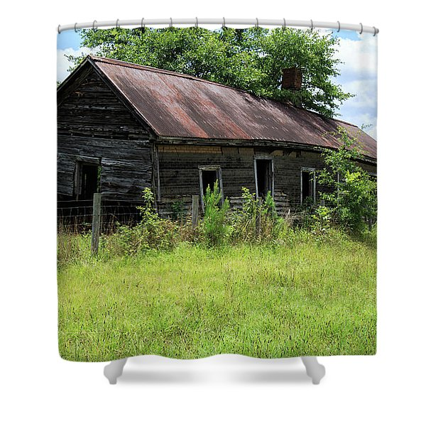 Farmhouse Abandoned Shower Curtain