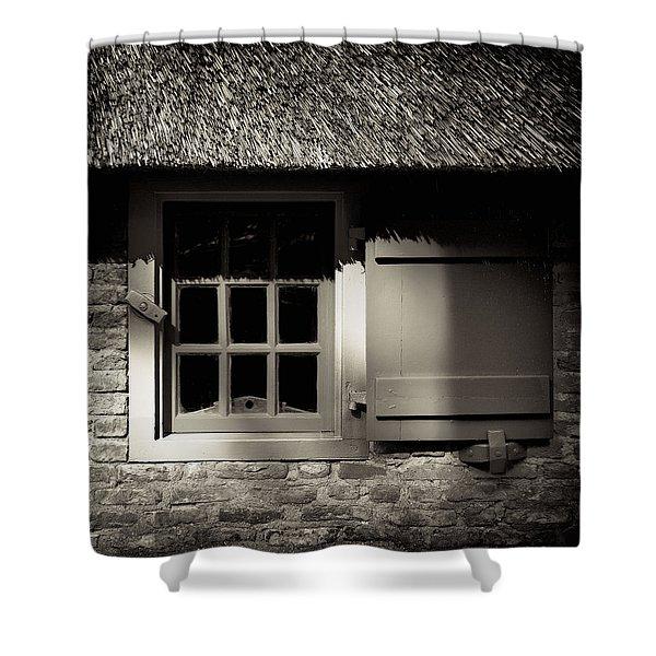 Farmhouse Window Shower Curtain