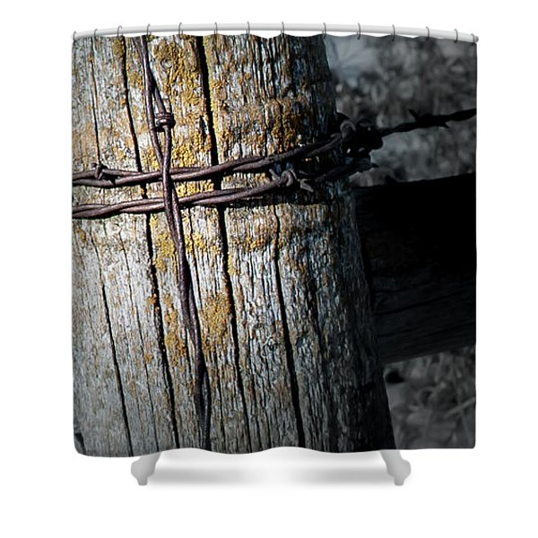 Farming Cross Shower Curtain