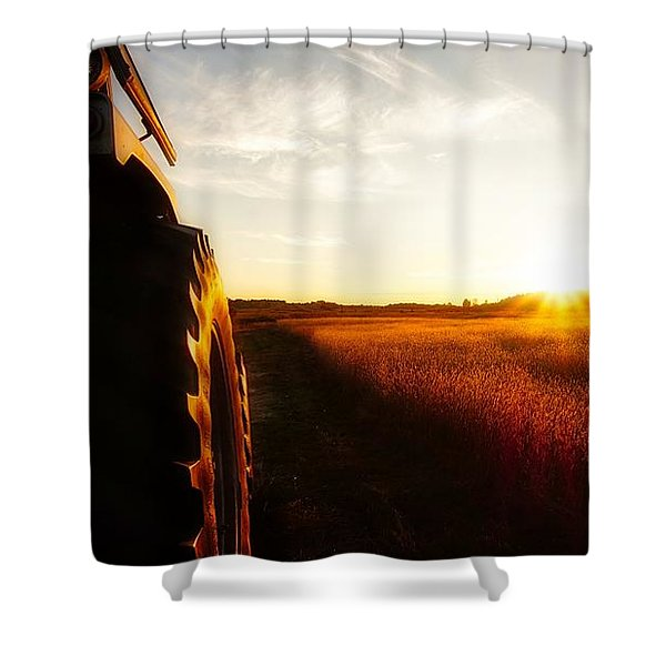 Farming Until Sunset Shower Curtain