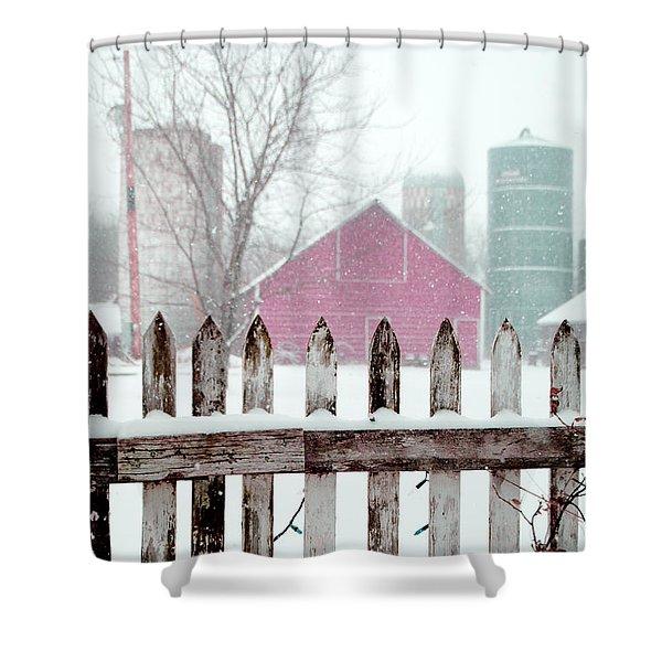 Farmline Christmas Shower Curtain