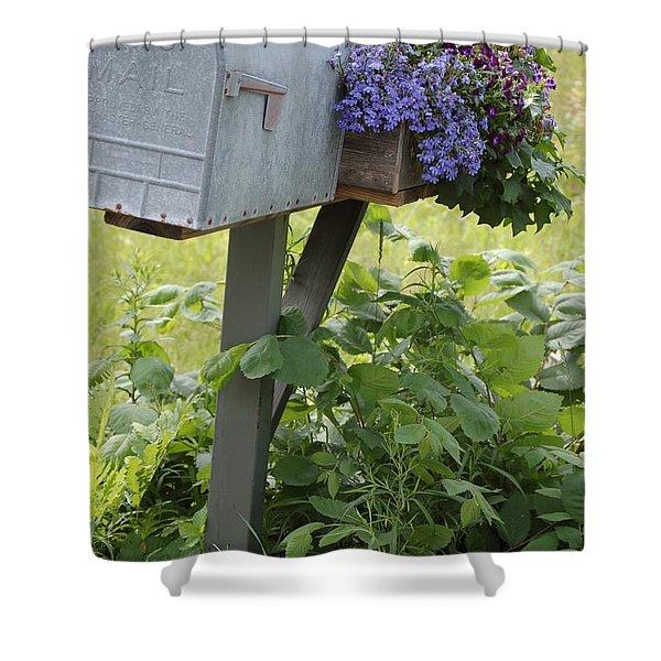 Farm's Mailbox Shower Curtain