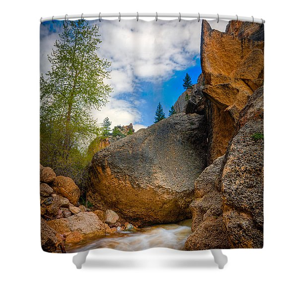 Fast-flowing Crazy Woman Shower Curtain
