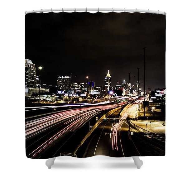 Fast Lane Shower Curtain
