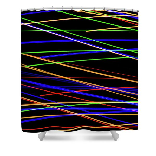 Fast Lanes Shower Curtain