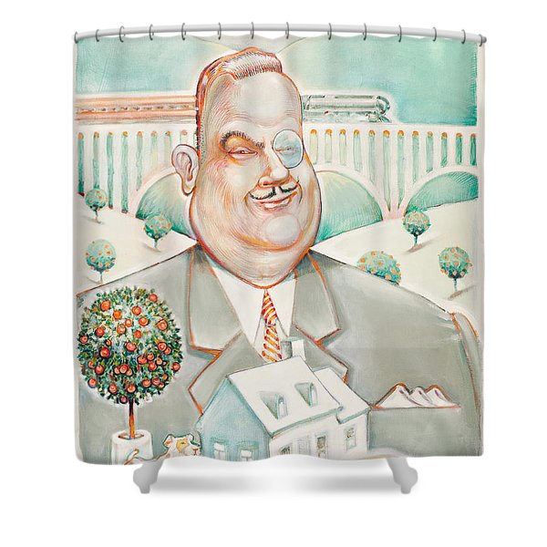 Sir Billiam Shower Curtain