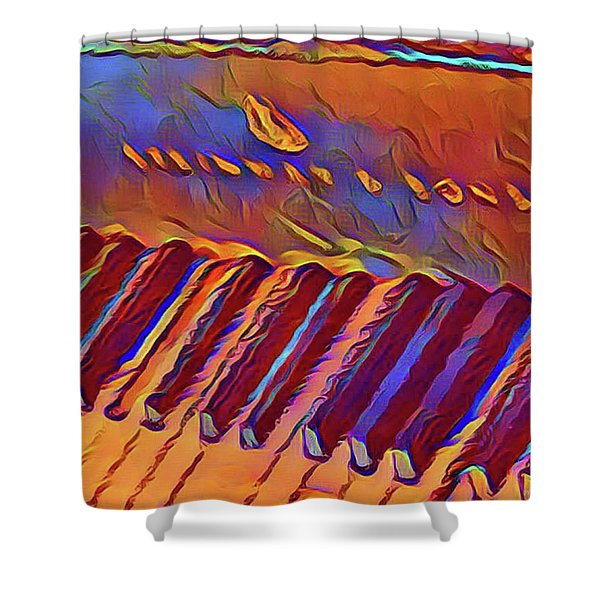 Fat Domino's Piano Shower Curtain