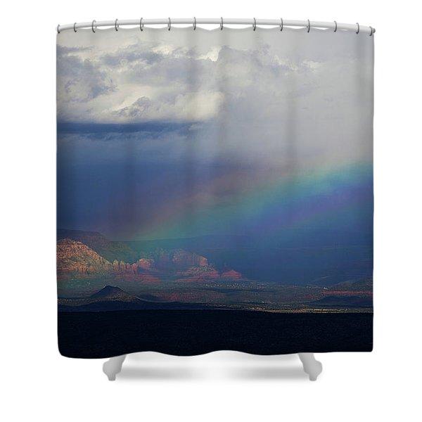 Fat Rainbow, Sedona Az Shower Curtain