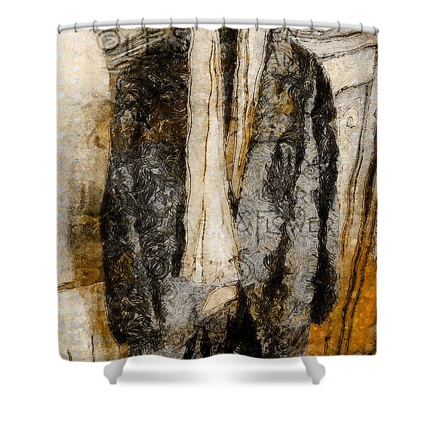 Father's Coat Shower Curtain