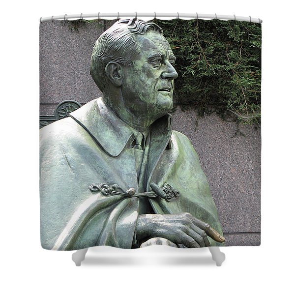 Fdr Statue At His Memorial In Washington Dc Shower Curtain