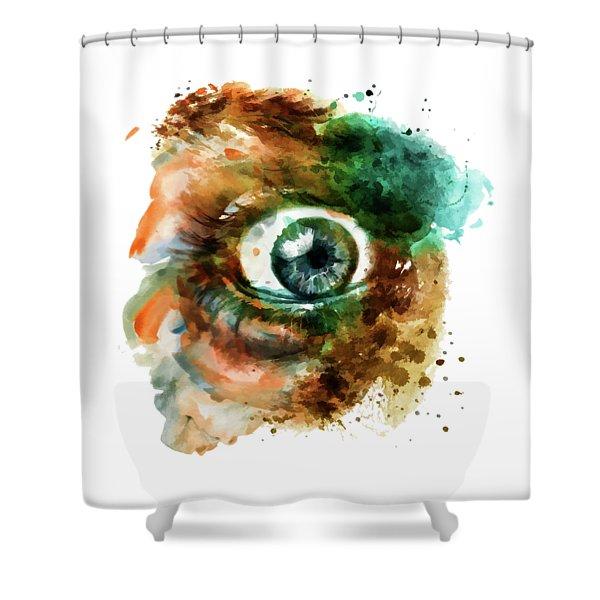 Fear Eye Watercolor Shower Curtain