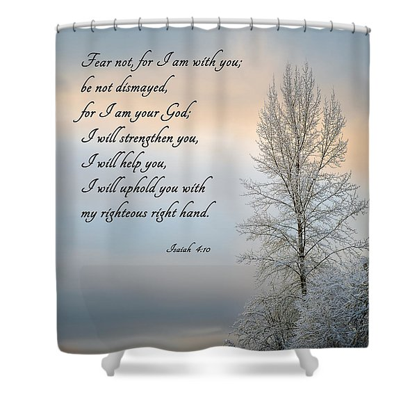 Shower Curtain featuring the photograph Fear Not by Mary Jo Allen