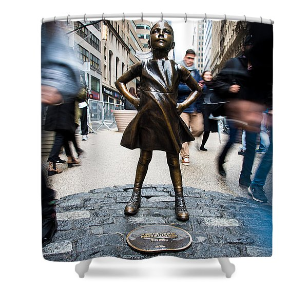 Fearless Girl Shower Curtain