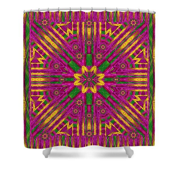 Feather Stars Mandala Pop Art Shower Curtain
