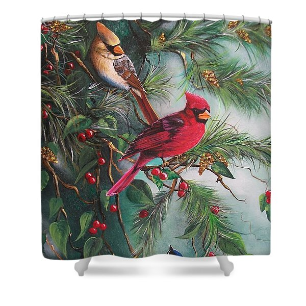 Feathered Friends  Shower Curtain