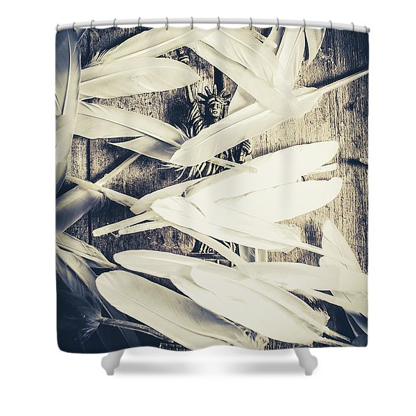 Feathers Of Freedom And The Statue Of Liberty Shower Curtain