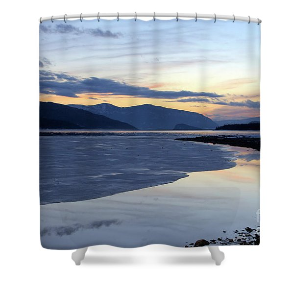 February At Dusk 5 Shower Curtain
