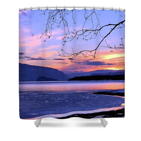 February Sunset 2 Shower Curtain