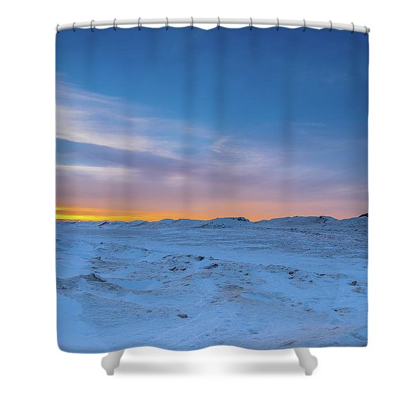February Sunset Shower Curtain