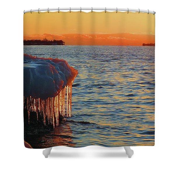 Feburary Sunset Cape Vincent Shower Curtain