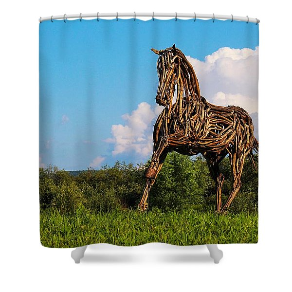 Feed Me Apples Shower Curtain