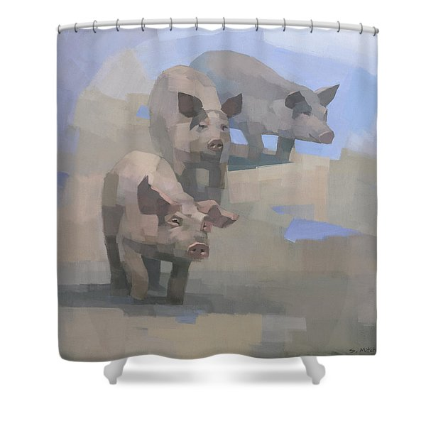 Feed Time Shower Curtain