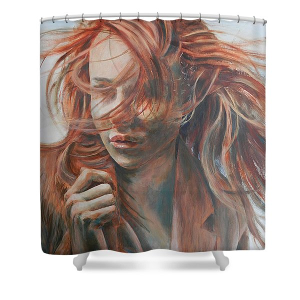Feel The Wind Shower Curtain