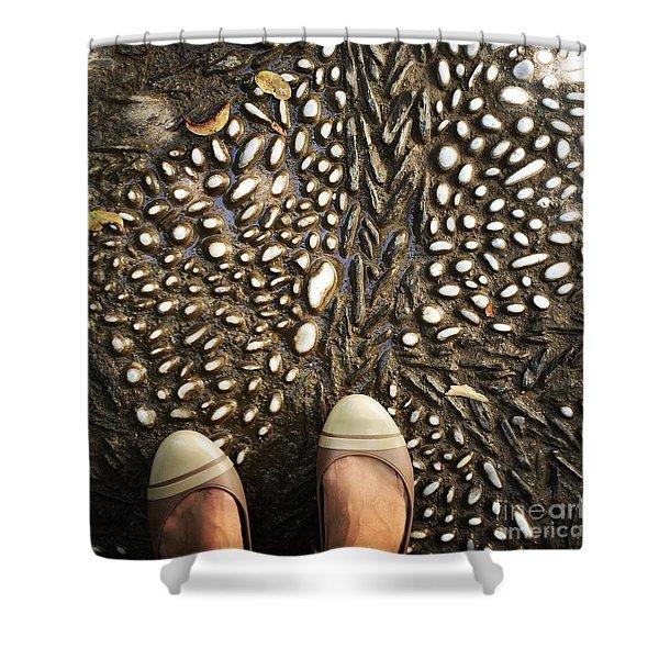 Feet Around The World #32 Shower Curtain