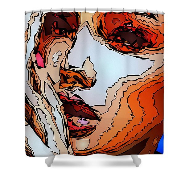 Female Expressions Viii Shower Curtain