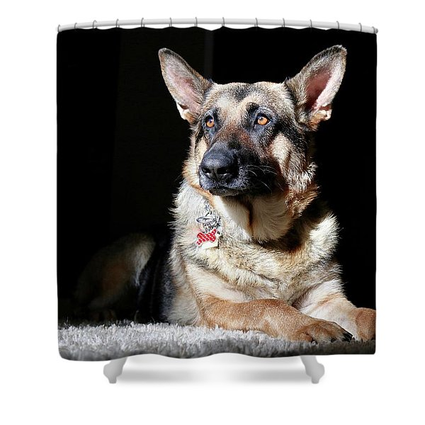 Female German Shepherd Shower Curtain