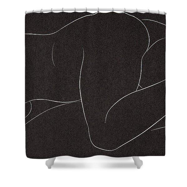 Female Nude Lying Shower Curtain