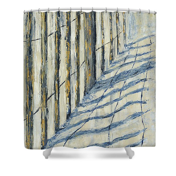 Shower Curtain featuring the painting Fence At Palmetto Dunes by Kathryn Riley Parker