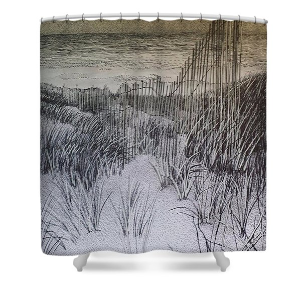 Fence In The Dunes Shower Curtain