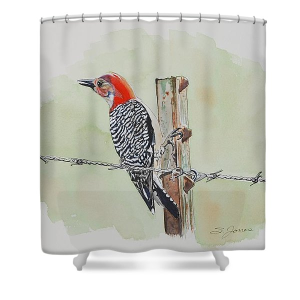 Fence Sitting Shower Curtain