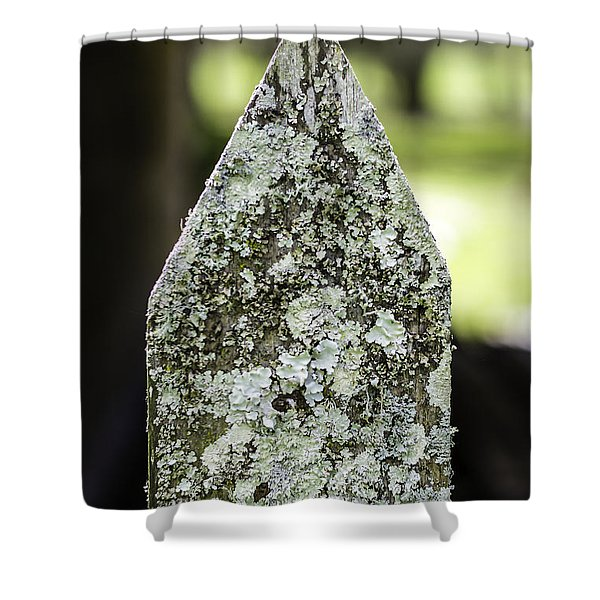 Fence With Moss Shower Curtain