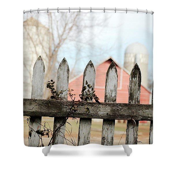 Fenceline Shower Curtain
