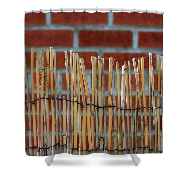 Fencing In The Wall Shower Curtain