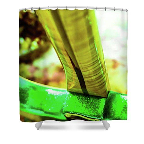 Custom Shop Stratocaster In Rare Green Sparkle Shower Curtain