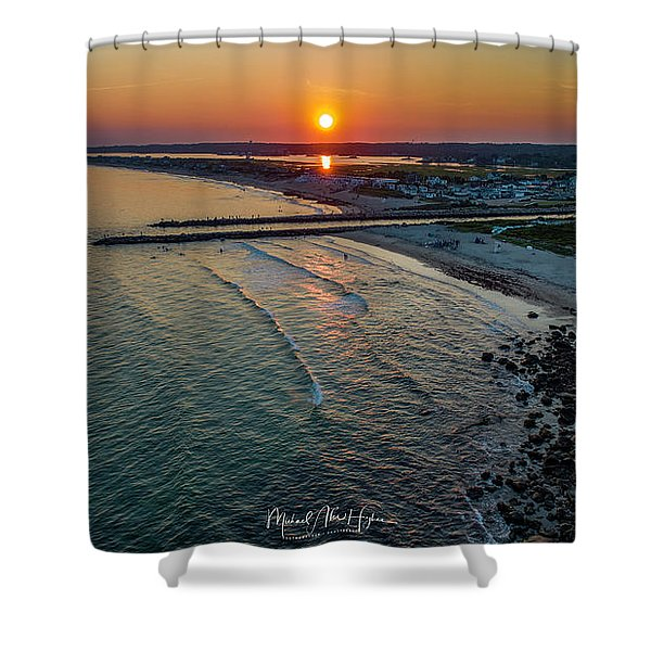 Fenway Beach Sunset Shower Curtain
