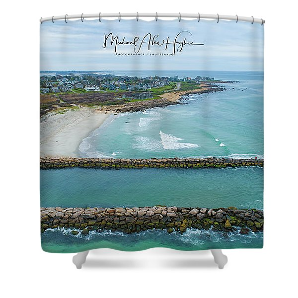 Fenway Beach, Weekapaug Shower Curtain