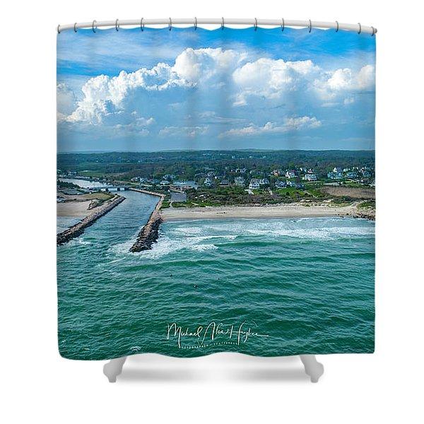 Fenway Beach, Weekapaug,ri Shower Curtain